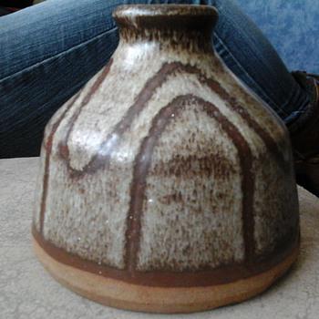 stoneware vase/lamp base, Leach?? - Pottery