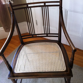 Antique Maple Rocker  Unusual Asian style side chair - Furniture