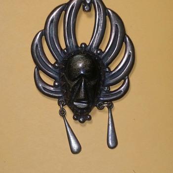 Obsidian Taxco Necklace Piece - Fine Jewelry