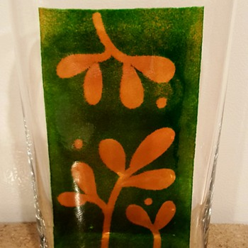 Lindshammar Art Glass Vase by Lillemor Bokström - Art Glass