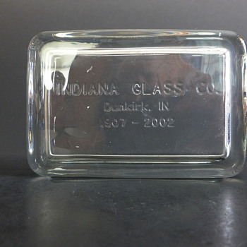 Last item produced by Indiana Glass Company - Art Glass