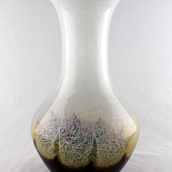 Iwatsu Art Glass speckled vase - Art Glass