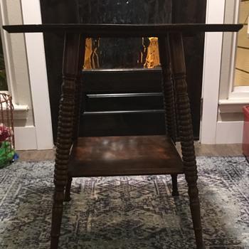 Spool Leg Antique Table  - Furniture