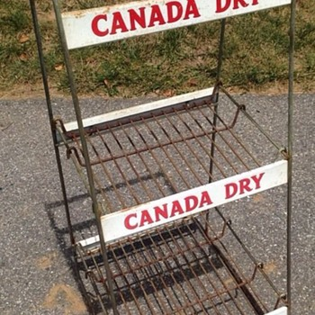 1950's Canada Dry Metal Display Rack - Advertising