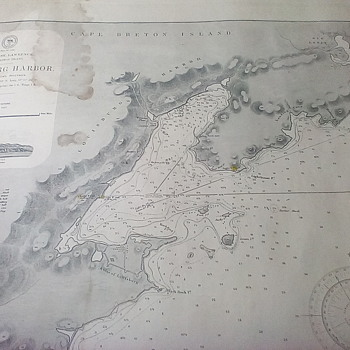 Hydrographic Chart Louisburg Harbor