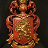 Dated Red & Gold Lowenbrau Lion Beer Sign