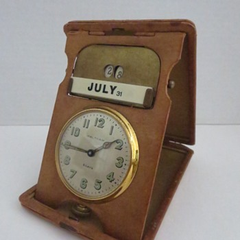 Waltham 8-Day Desk / Calendar Clock - Clocks
