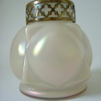 Art Nouveau Mother of Pearl Rosebowl - Art Glass