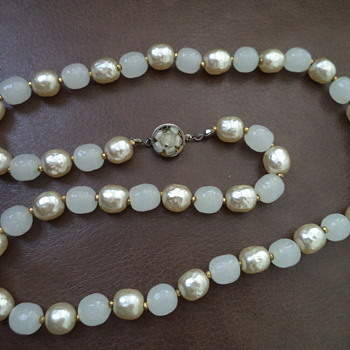 Miriam Haskell Vintage Pearl Necklace - Costume Jewelry