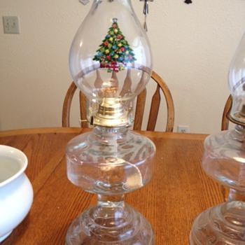 My mom's Hurricane Lamps