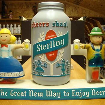 Vintage Sterling Beer Chalk ware beer advertisement.......