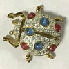 Assorted M. V. Vellano costume jewelry brooches