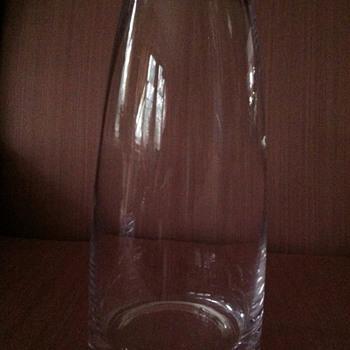 Heavy Glass Vase - Art Glass