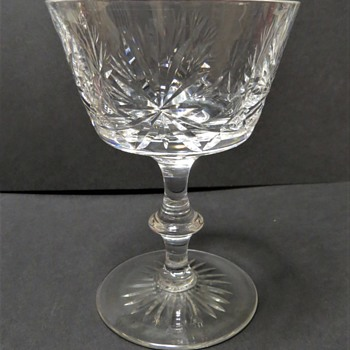 Edinburgh Crystal Champagne Saucer - Star of Edinburgh Pattern - Glassware