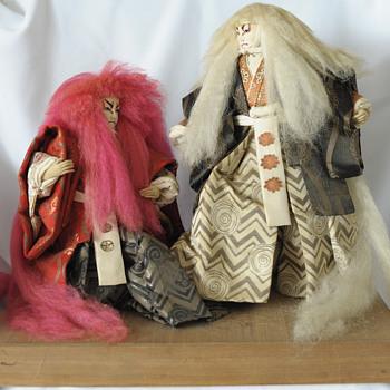 Japanese Handmade Kabuki Dolls - Dolls