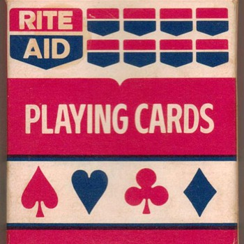 """Rite Aid"" Poker Playing Cards - Red - Cards"
