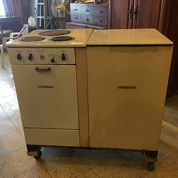 GE Stove & Top Opening Refrigerator  - Kitchen