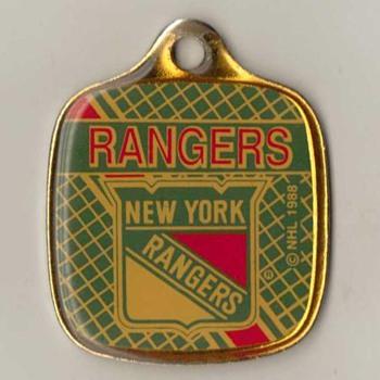 "1988 - ""New York Rangers"" Keyfob Pendant"
