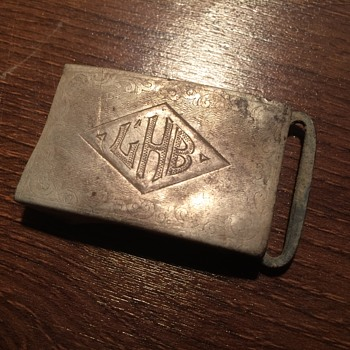 Sterling Silver child's belt buckle. Age unknown. - Silver