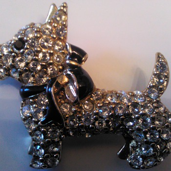 Monet Dog Pin - Costume Jewelry