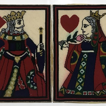 King and queen tapestry  - Rugs and Textiles