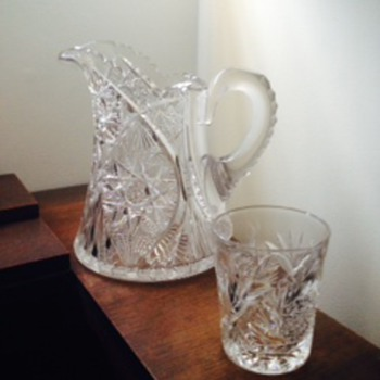 Looking to identify family crystal pitcher - Glassware