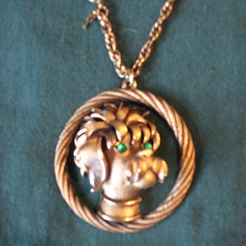 My 1st piece of vintage jewelry, Trifari pendant