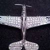 PART 5,  P-39 AIRACOBRA BROOCH,  EXCEEDS 228 DIAMONDS - 268  STONES - LAWRENCE DALE BELL OF BELL AIRCRAFT CO. WWII  AVIATION
