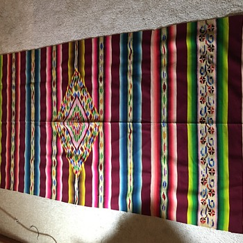 Dating Vintage Mexican Serape - Rugs and Textiles