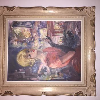 Mid century original painting - Fine Art