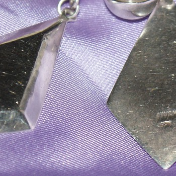 Silver Earrings:  Unknown Maker - Fine Jewelry