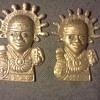 Brass Aztec Warriors