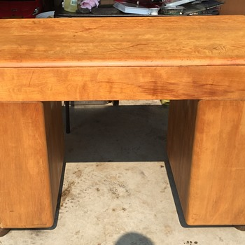 OLD HEYWOOD-WAKEFIELD STREAMLINE DESK  Before and After - Furniture