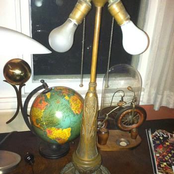 Antique Ornate Lamp Base - Lamps