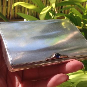 Silver Cigarette Case by Joseph Kopf - Tobacciana