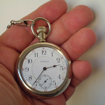 neat 1901 Waltham 16 size open face pocket watch