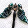 Art nouveau domed plique à jour wings hair ornament. Part 1.