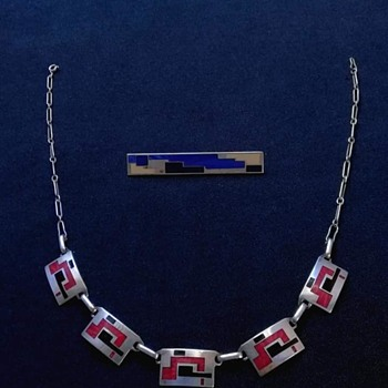 marie-georges william barboteaux  necklace - Art Deco