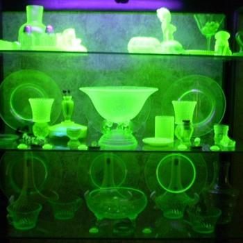 Black light case.  Fun,Fun,Fun. - Glassware