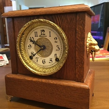 Sessions Mantel Clock side view - Clocks