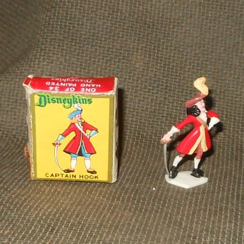 Marx Disneykins Captain Hook With Box 1961 - Advertising