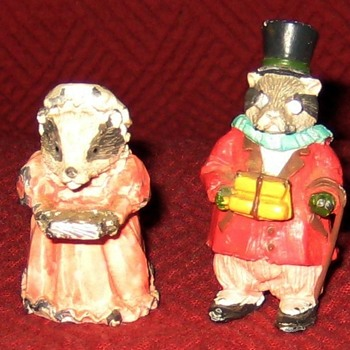 Mr. and Mrs. Badger (Vintage Cold Painted Lead Figures) - Animals