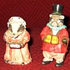 Mr. and Mrs. Badger (Vintage Cold Painted Lead Figures)
