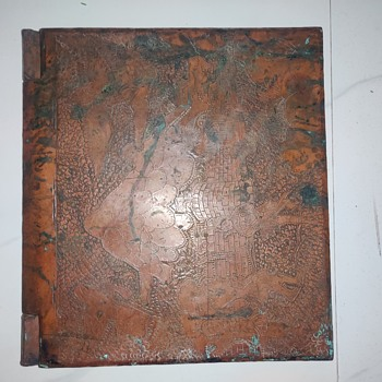 Extremely heavy copper book - Asian