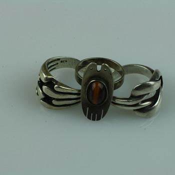 Silver modernist rings - Fine Jewelry