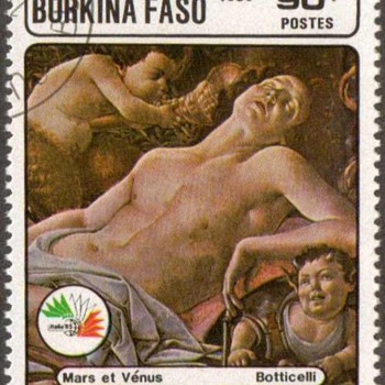 "1985 - Burkina Faso ""Botticelli"" Postage Stamp - Stamps"