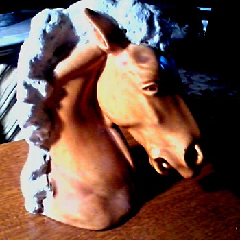 Ceramic Horse Head Bookend #57 /Alberta's Molds  Inc.Wichita Kansas / Circa 1960-70 - Books