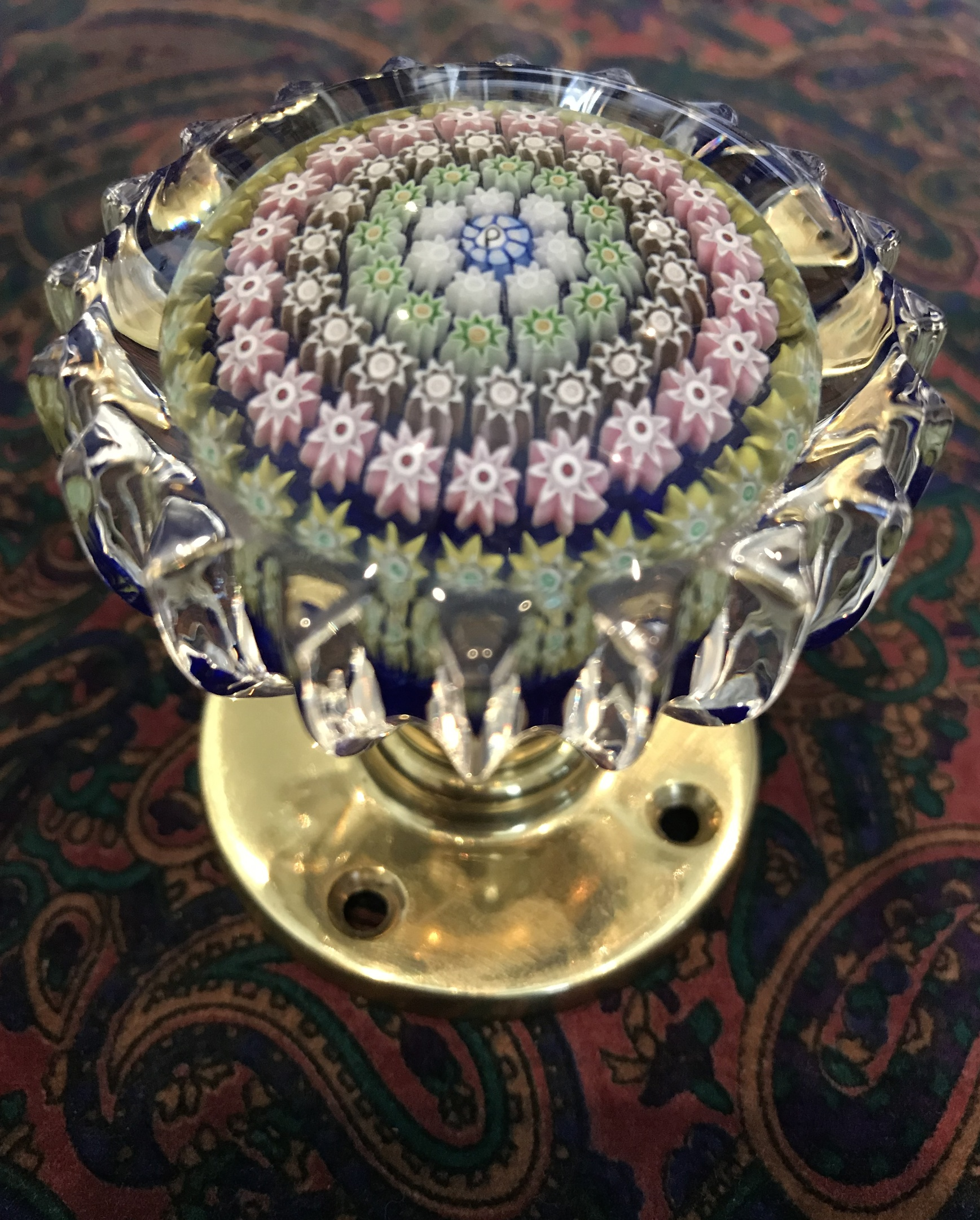 Perthshire Concentric Millefiori Glass Paperweight Doorknob Collectors Weekly