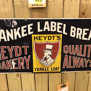 Yankee label bread sign  - Signs