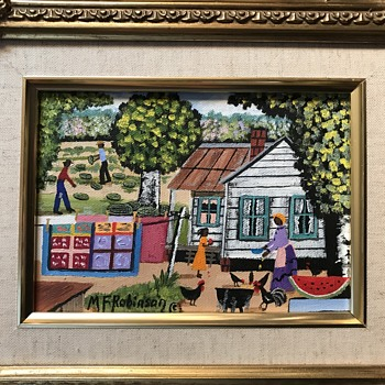 M. F. Robinson Painting  - Folk Art